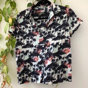 Reformation one of a kind Hawaiian shirt S